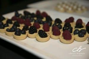 lemon curd and berries
