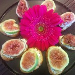Figs and Cambozola Crostinies